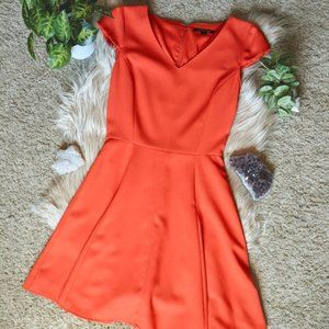 Gianni Bini Red Fit & Flair Cocktail Dress